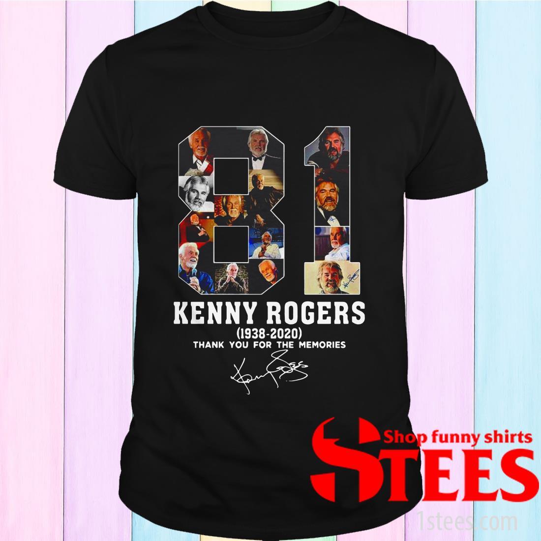 81 Kenny Rogers 1938-2020 Signature Shirt