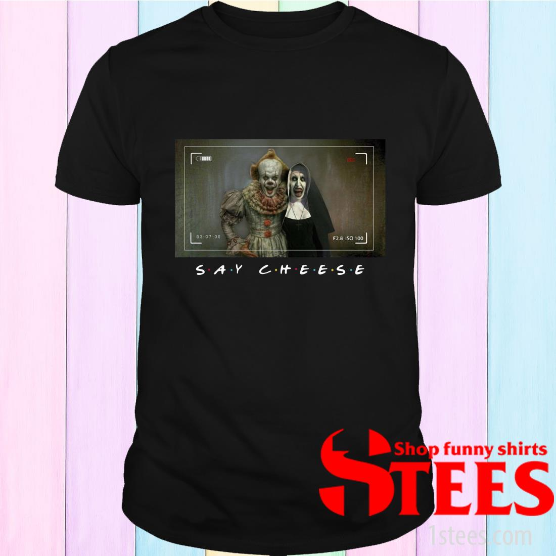 Valak And Pennywise Photo Say Cheese Friends Tv Show T-Shirt