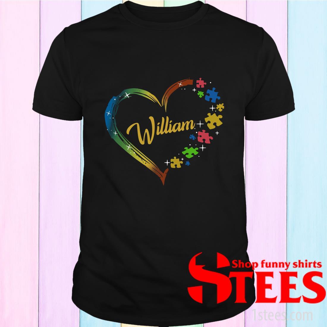 Autism Puzzle Heart Personalized T-Shirt