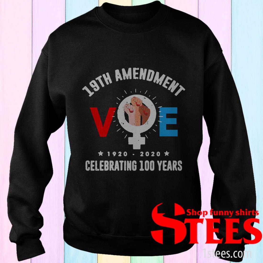 19th Amendment Voe Women Right To Vote Tee Shirt