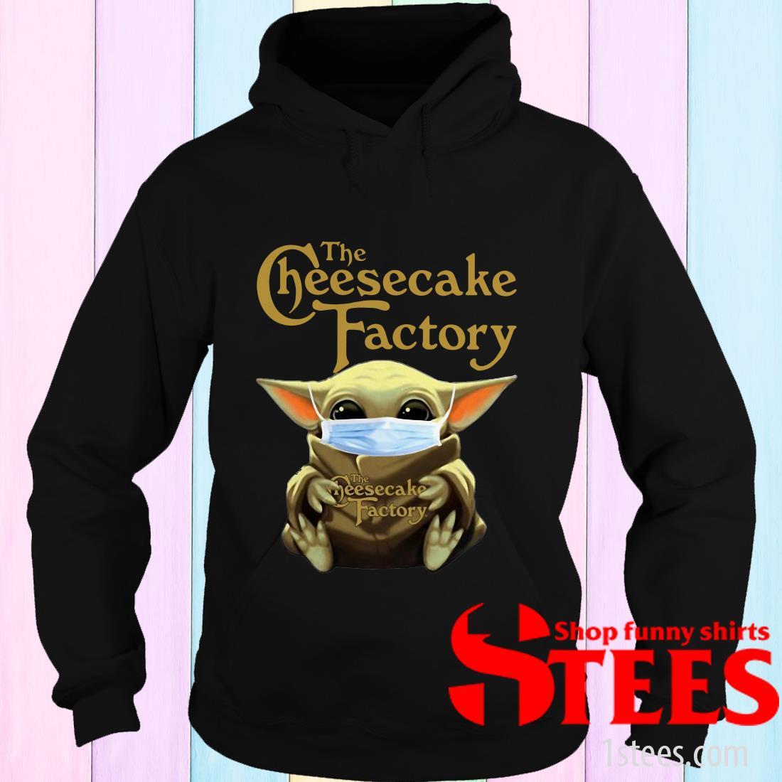Star Wars Baby Yoda Hug The Cheesecake Factory Covid-19 Hoodies
