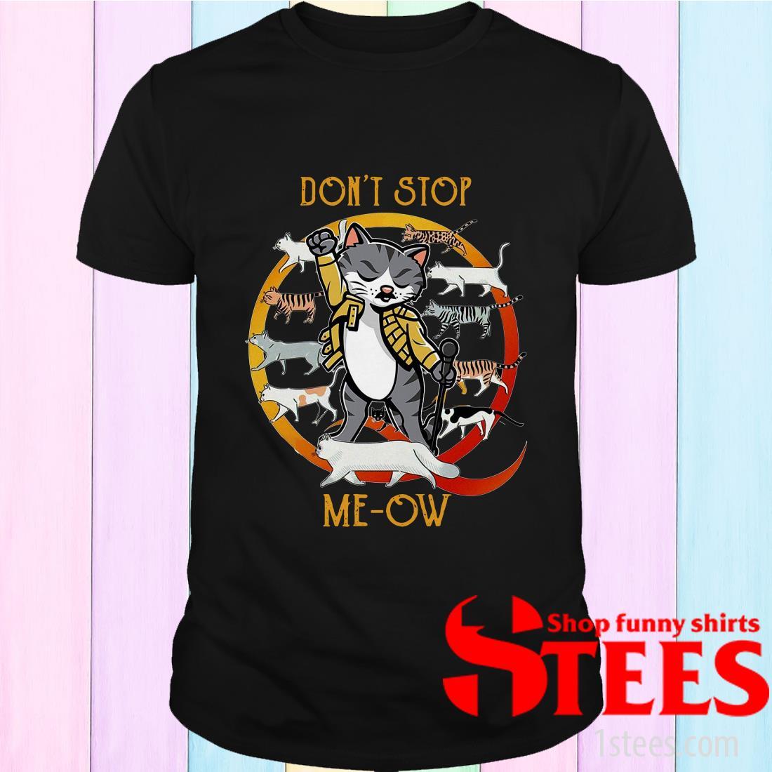 Freddie Mercury Cat Don't Stop Meow Tee Shirt