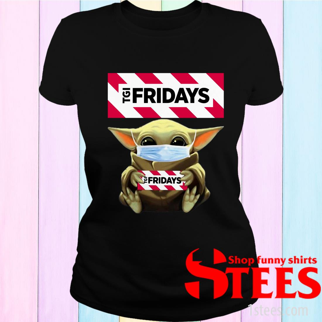 Star Wars Baby Yoda Hug TGI Fridays Covid-19 Women's T-Shirt