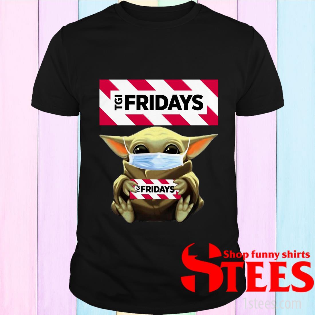 Star Wars Baby Yoda Hug TGI Fridays Covid-19 T-Shirt