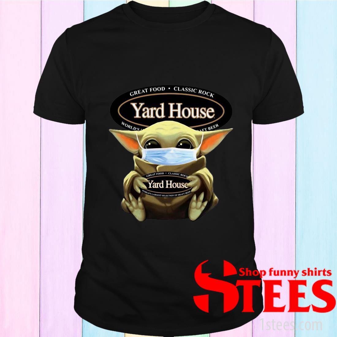 Star Wars Baby Yoda Hug Yard House Covid-19 T-Shirt