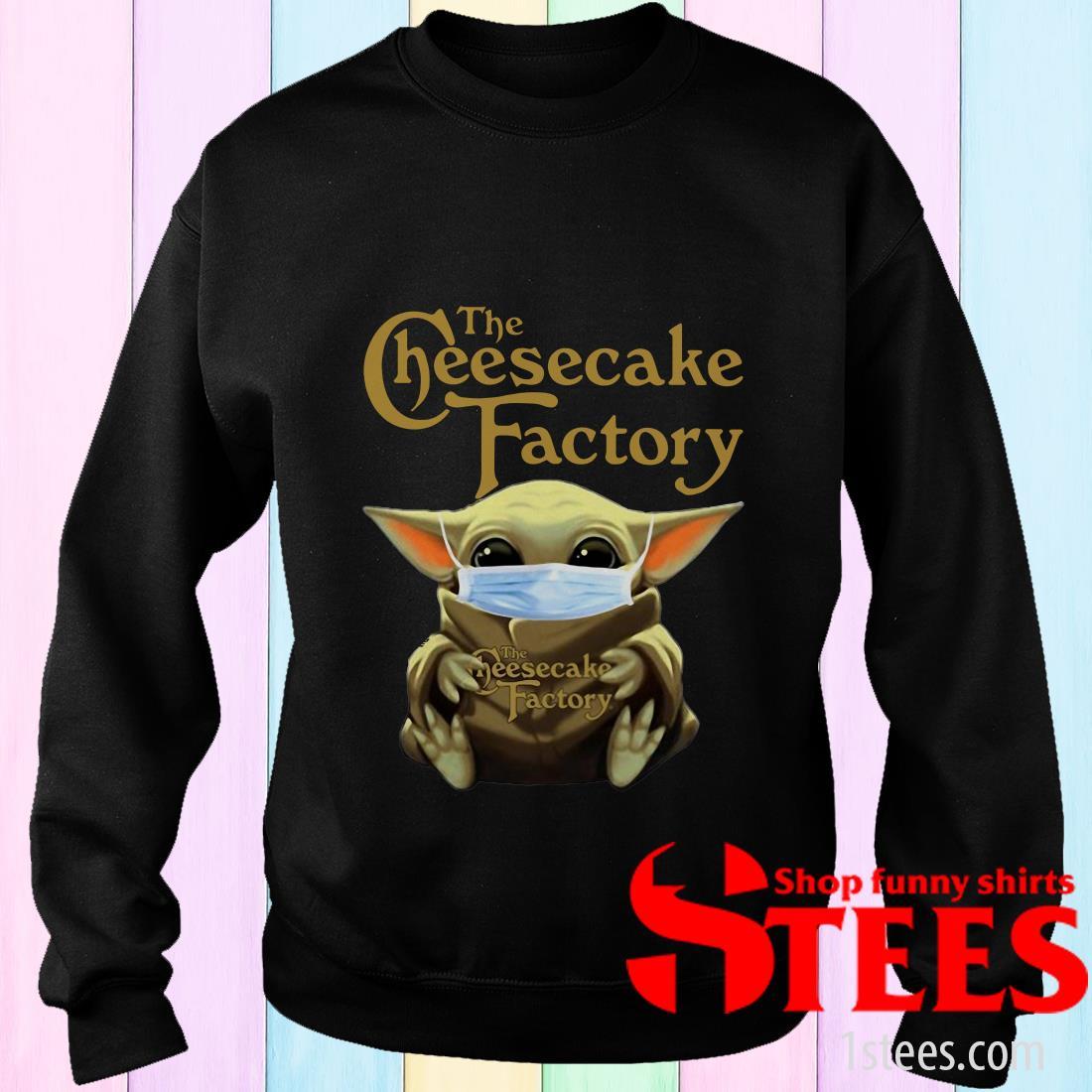 Star Wars Baby Yoda Hug The Cheesecake Factory Covid-19 Sweater