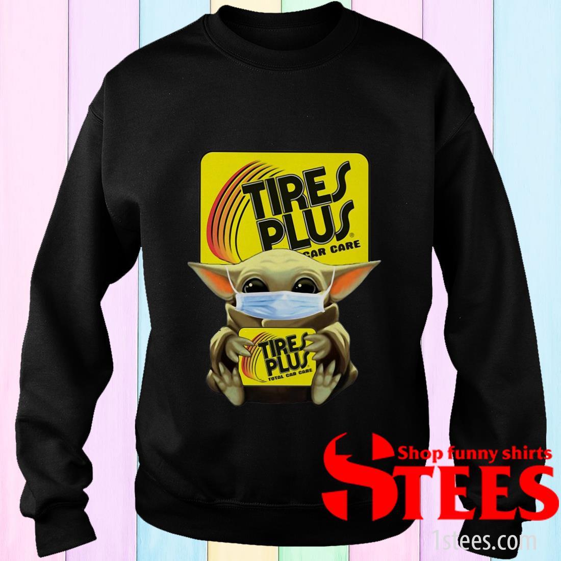 Star Wars Baby Yoda Hug Tires Plus Total Car Care Covid-19 Sweater