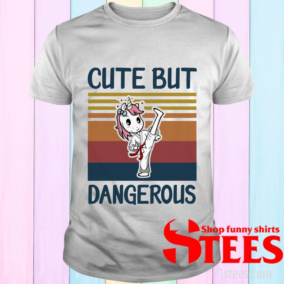Unicorn Cute But Dangerous Vintage T-Shirt