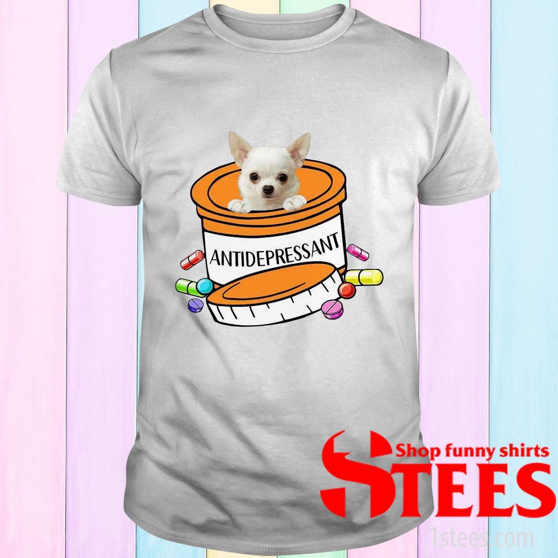 White Chihuahua Antidepressant T-Shirt