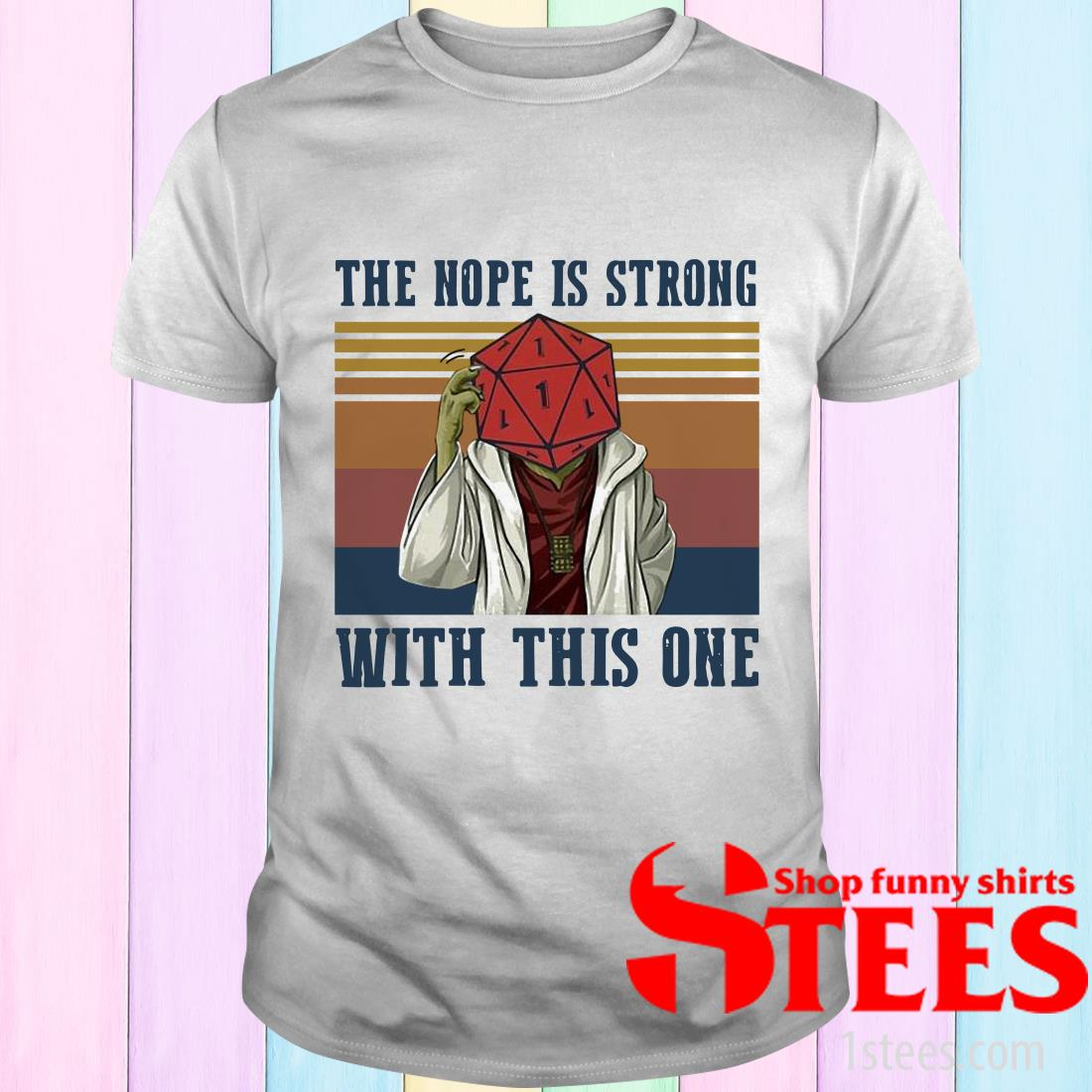 Vintage Star Wars Yoga The Nope Is Strong With This One T-Shirt