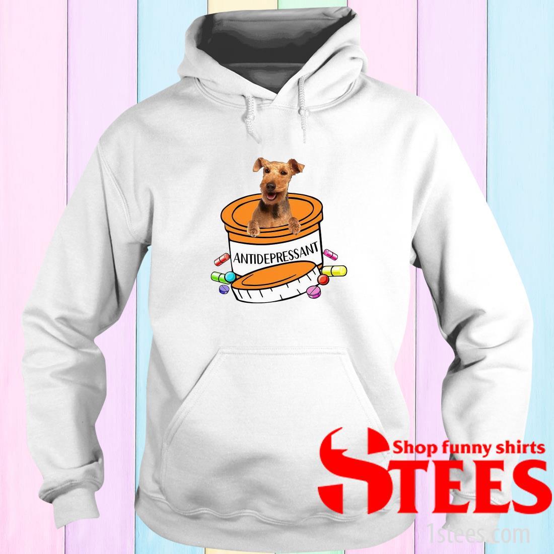 Welsh Terrier Antidepressant Hoodies