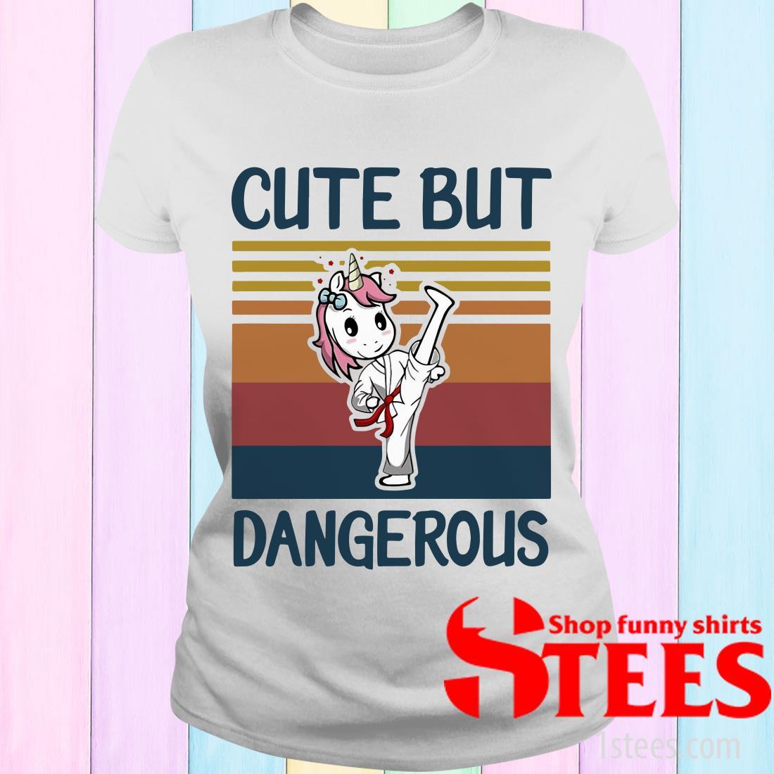 Unicorn Cute But Dangerous Vintage Women's T-Shirt