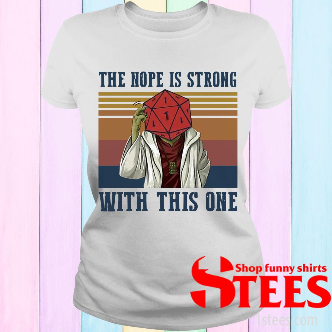 Vintage Star Wars Yoga The Nope Is Strong With This One Women's T-Shirt