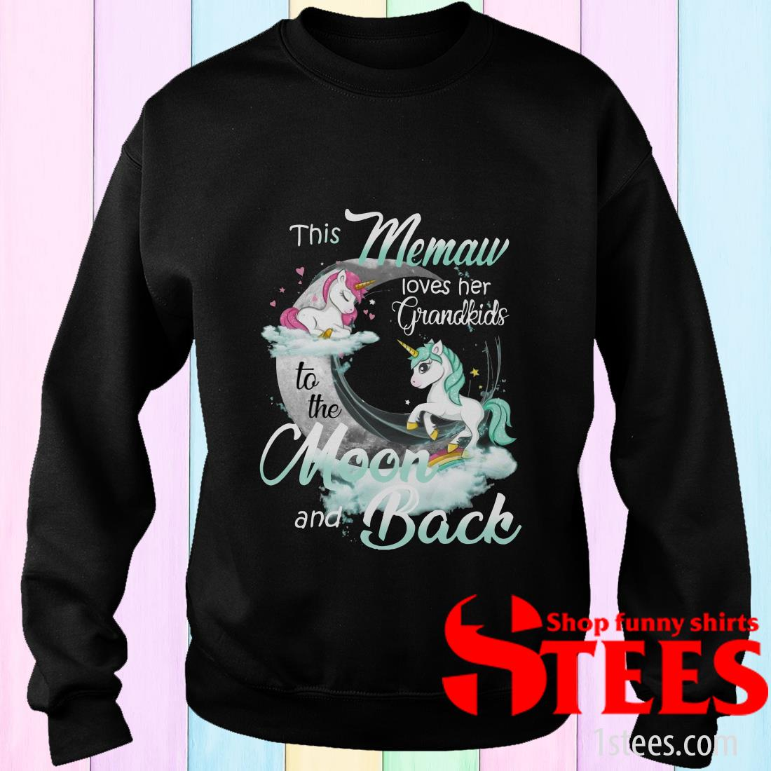 This Memaw Loves Her Grandkids To The Moon And Back Unicorn Sweater