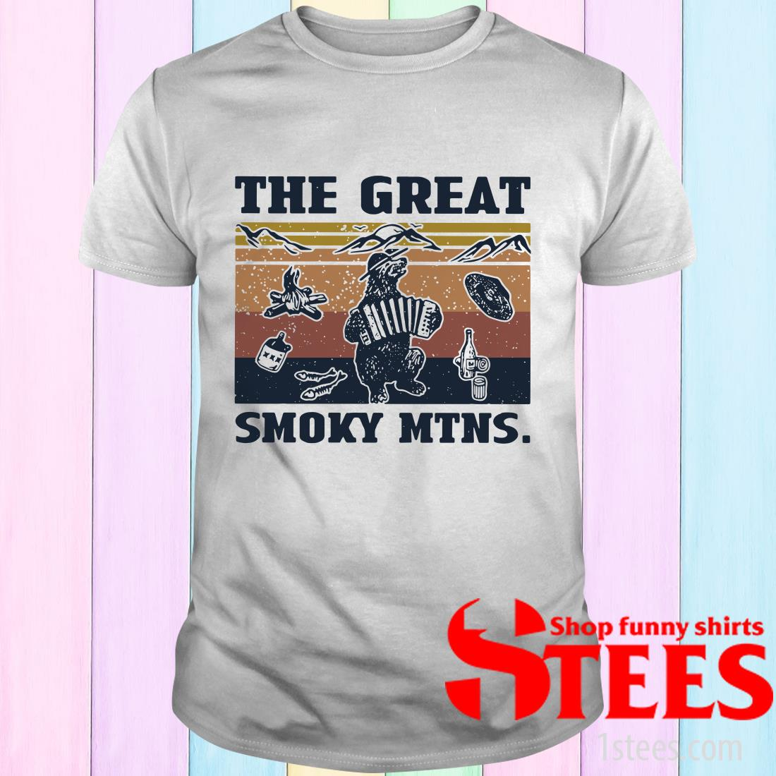 Vintage Bear The Great Smoky Mtns T-Shirt