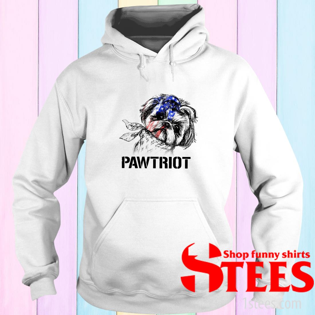 Shih Tzu Pawtriot 4th Of July Independence Day Hoodie