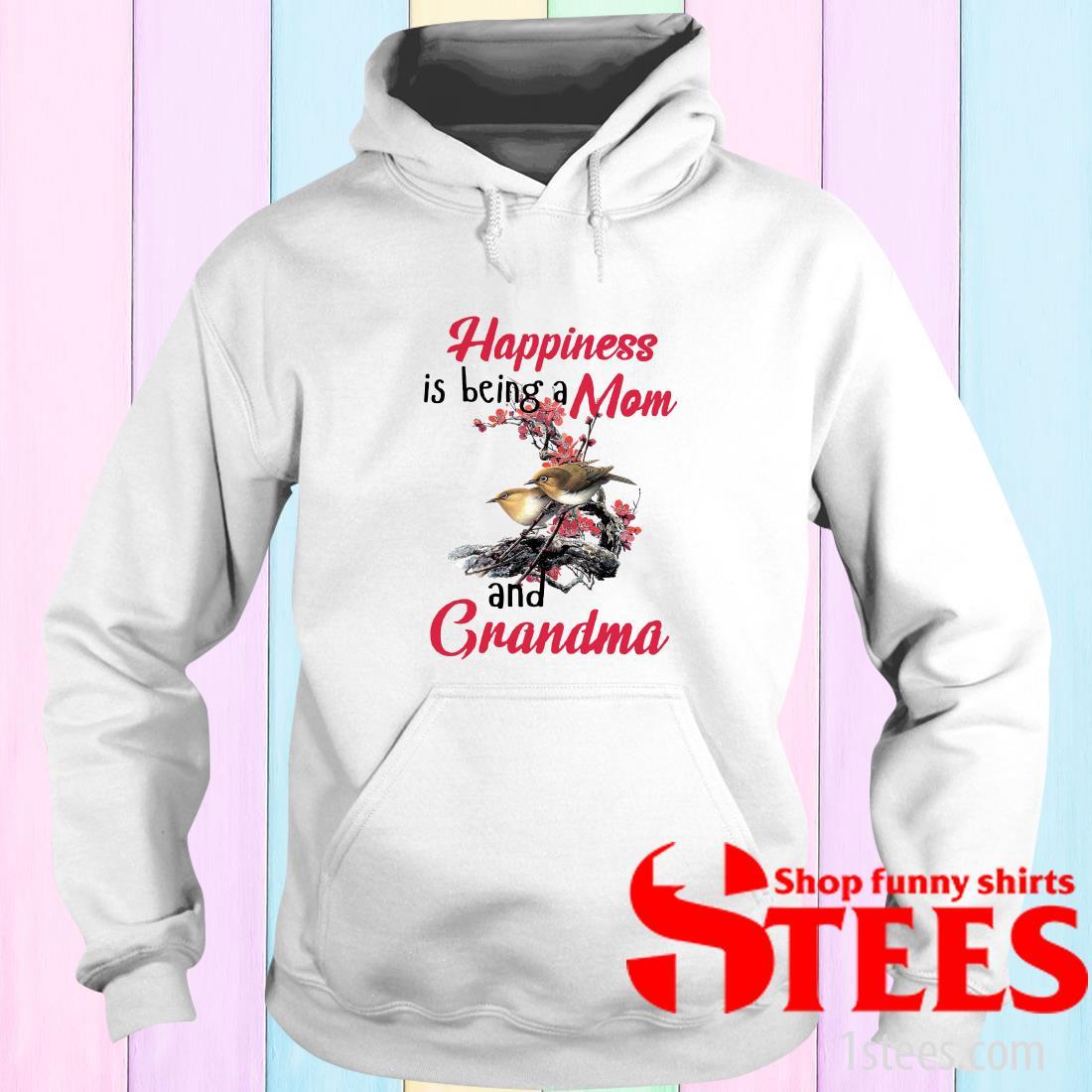 Mens Long Sleeve Cotton Hoodie Happiness is Being A Grandma Sweatshirt