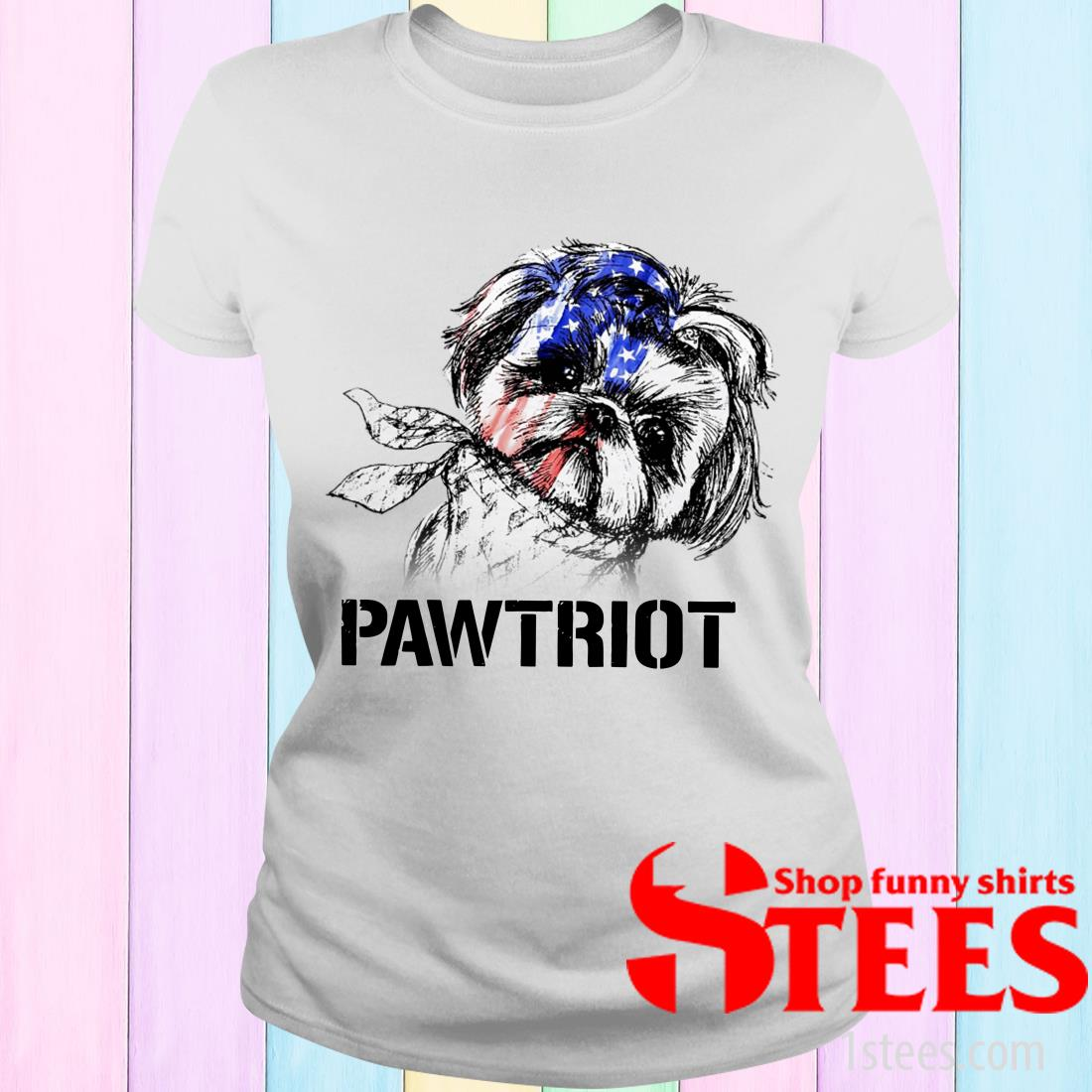 Shih Tzu Pawtriot 4th Of July Independence Day Women's T-Shirt
