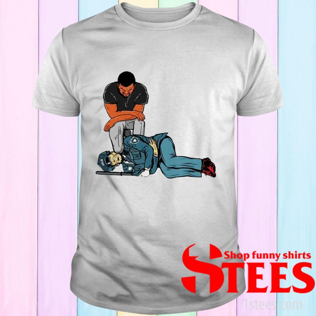 George Floyd Killing Police Stomach Ache Boy Stock T-Shirt