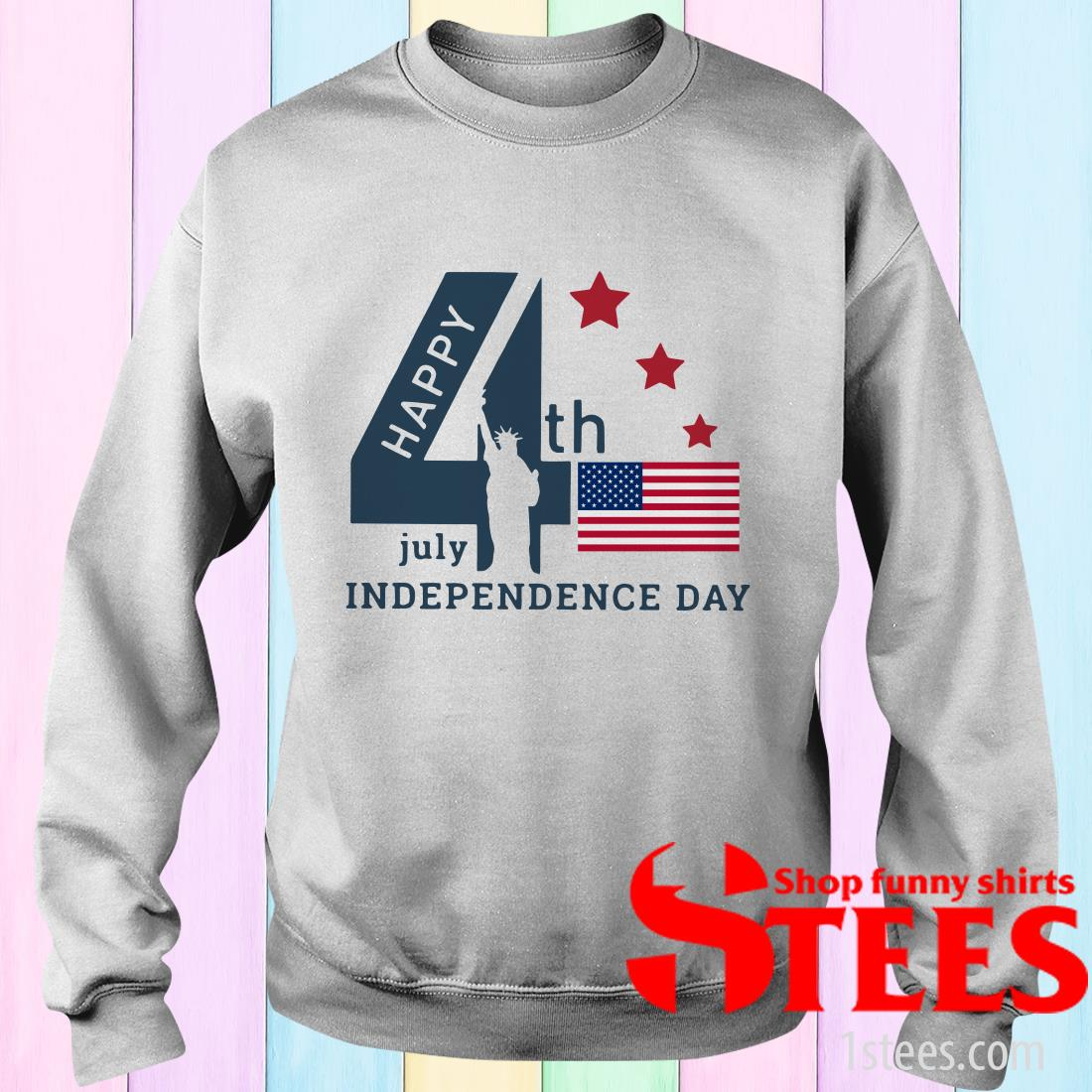 The World Happy 4th Of July Independence Day American Flag T-Shirt