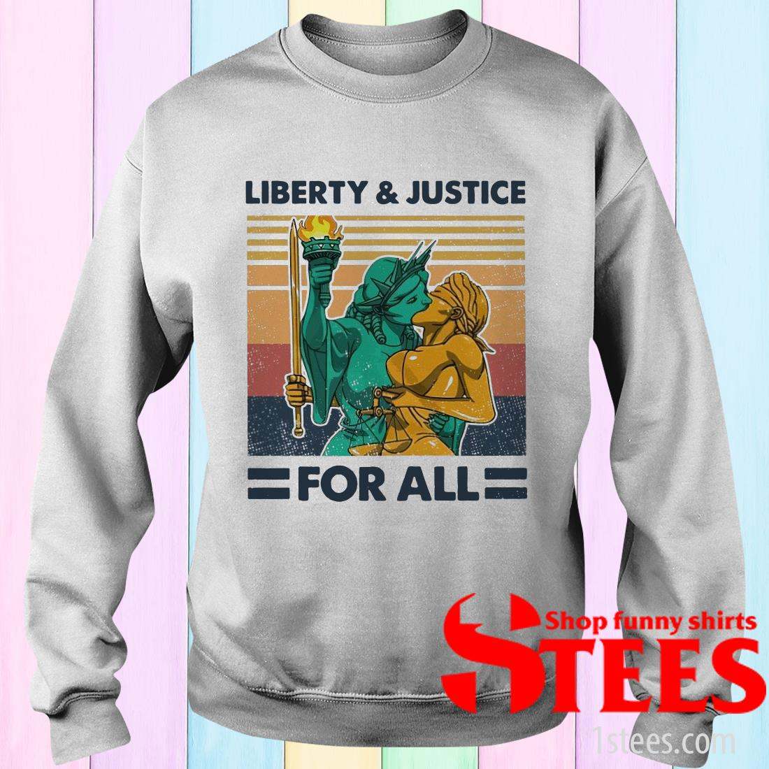 Liberty And Justice For All Vintage T-Shirt