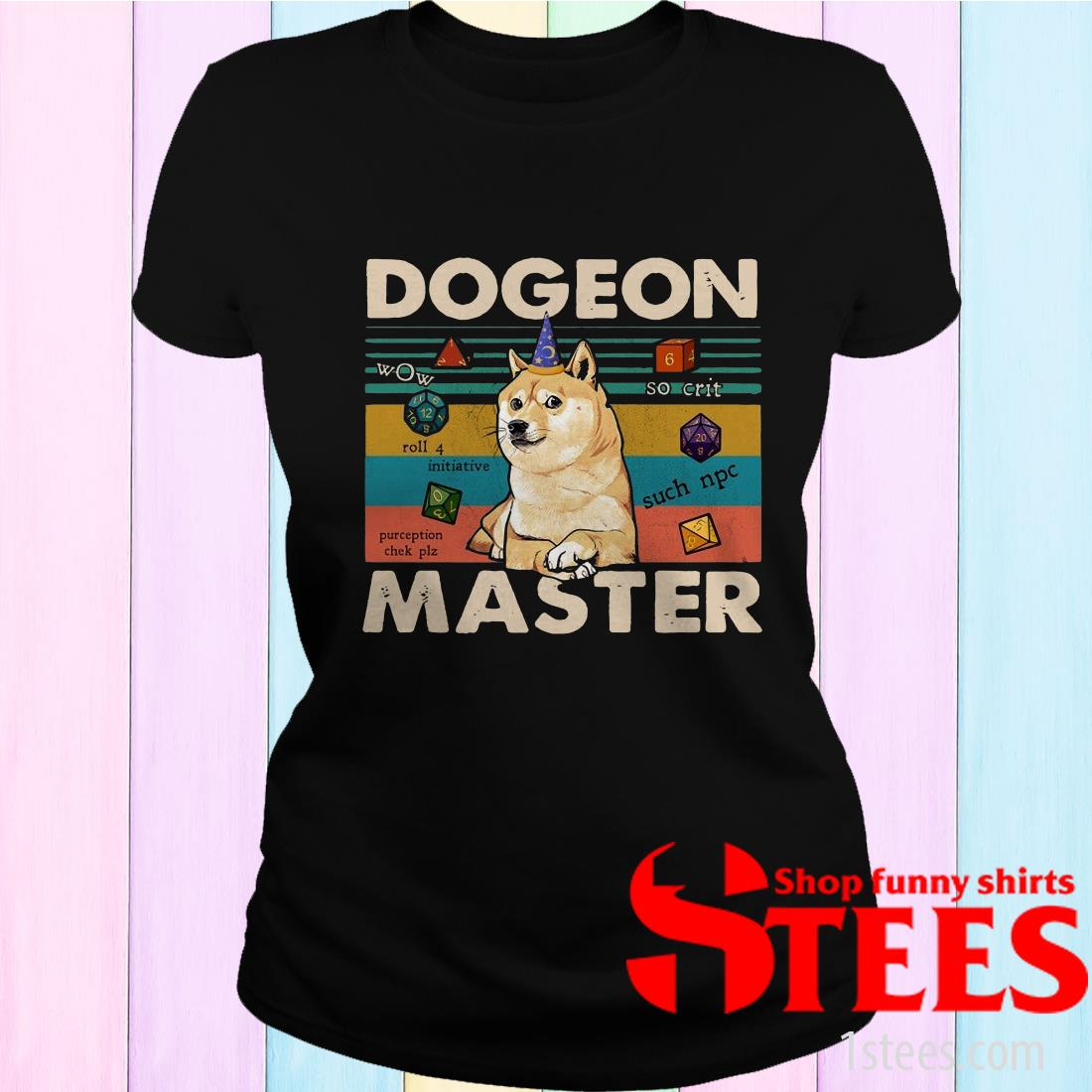 Premium Shiba Dogeon Master Dungeon Vintage T-Shirt