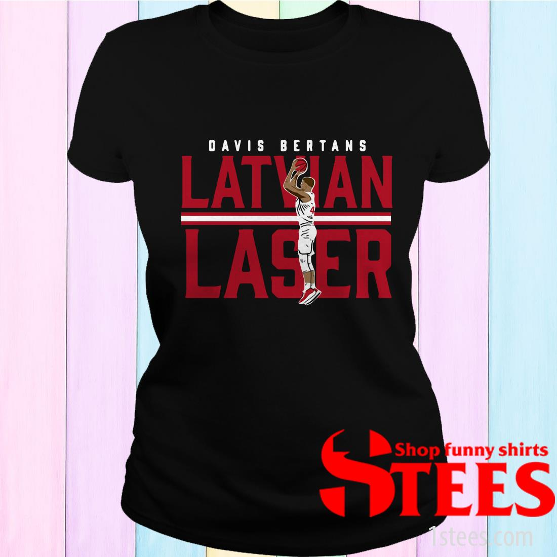 Davis Bertans Latvian Laser T-Shirt
