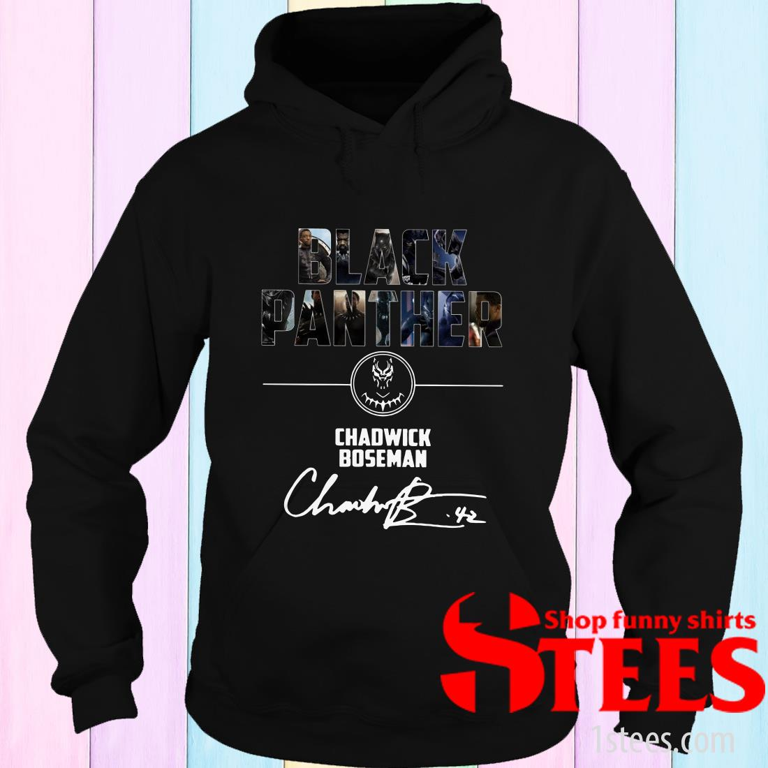 Black Panther Chadwick Boseman Signature Hoodies