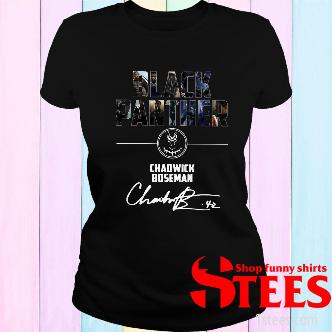 Black Panther Chadwick Boseman Signature Women's T-Shirt