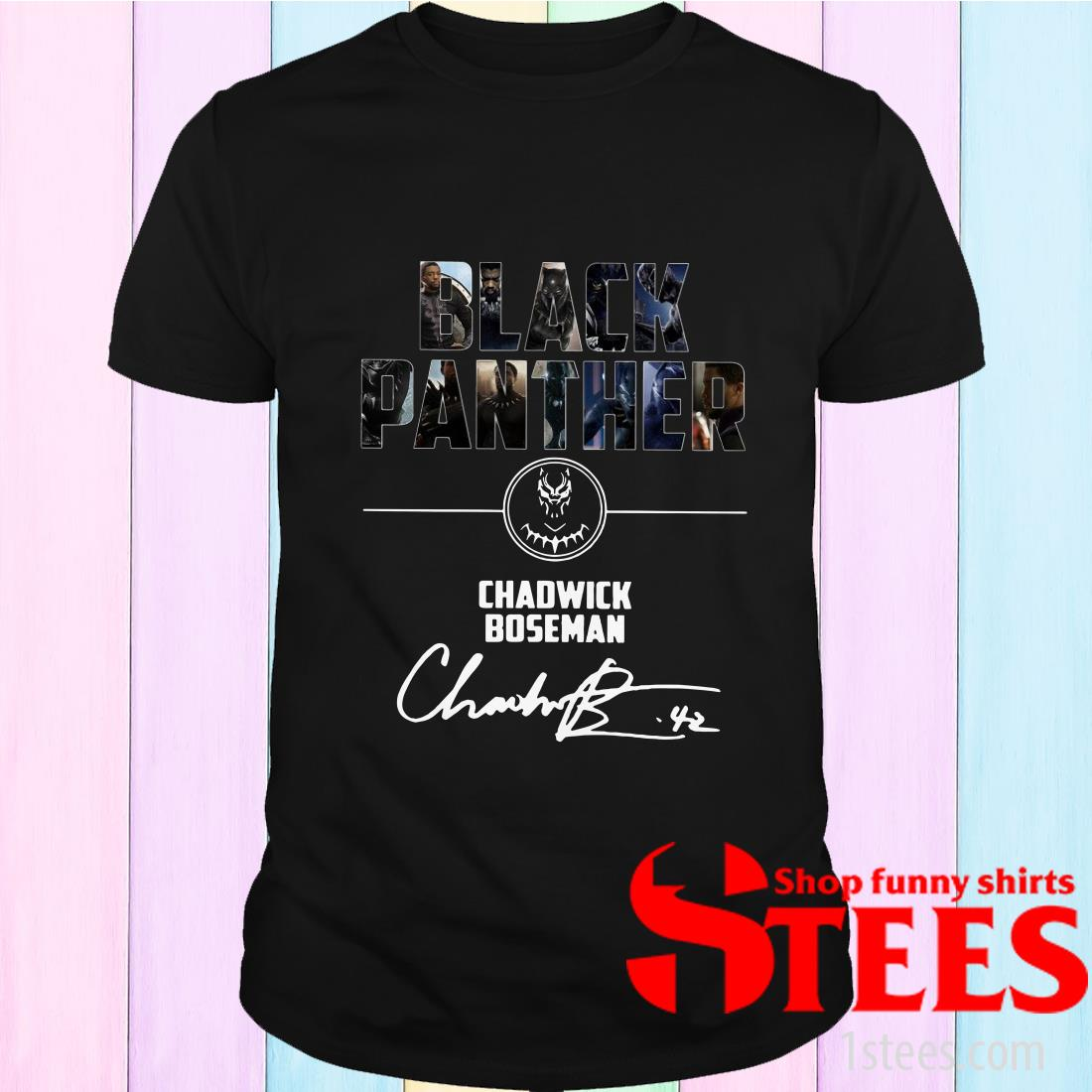 Black Panther Chadwick Boseman Signature T-Shirt