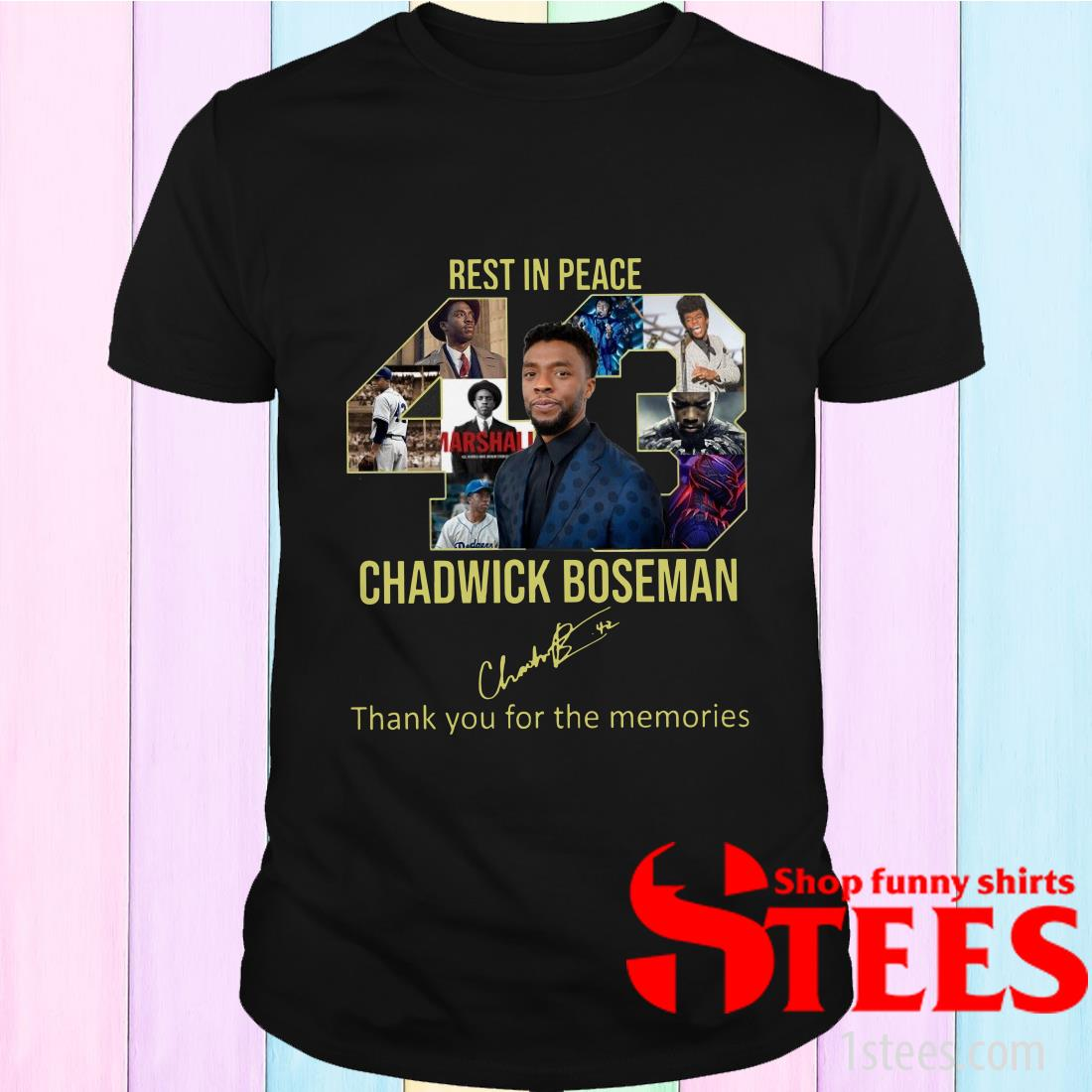 Rest In Peace 43 Chadwick Boseman Thank You For The Memories Shirt