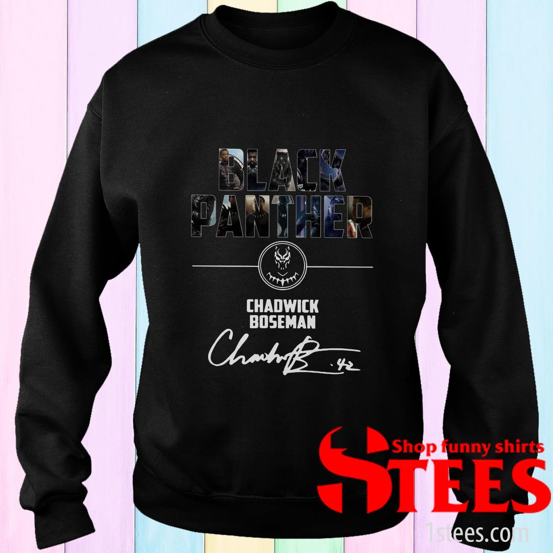 Black Panther Chadwick Boseman Signature Sweater