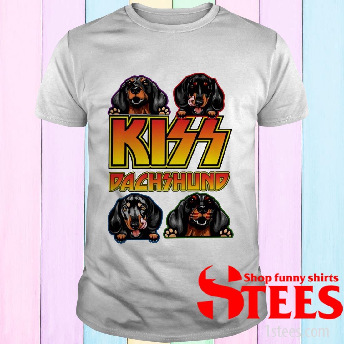 Kiss Band Dachshund T-Shirt