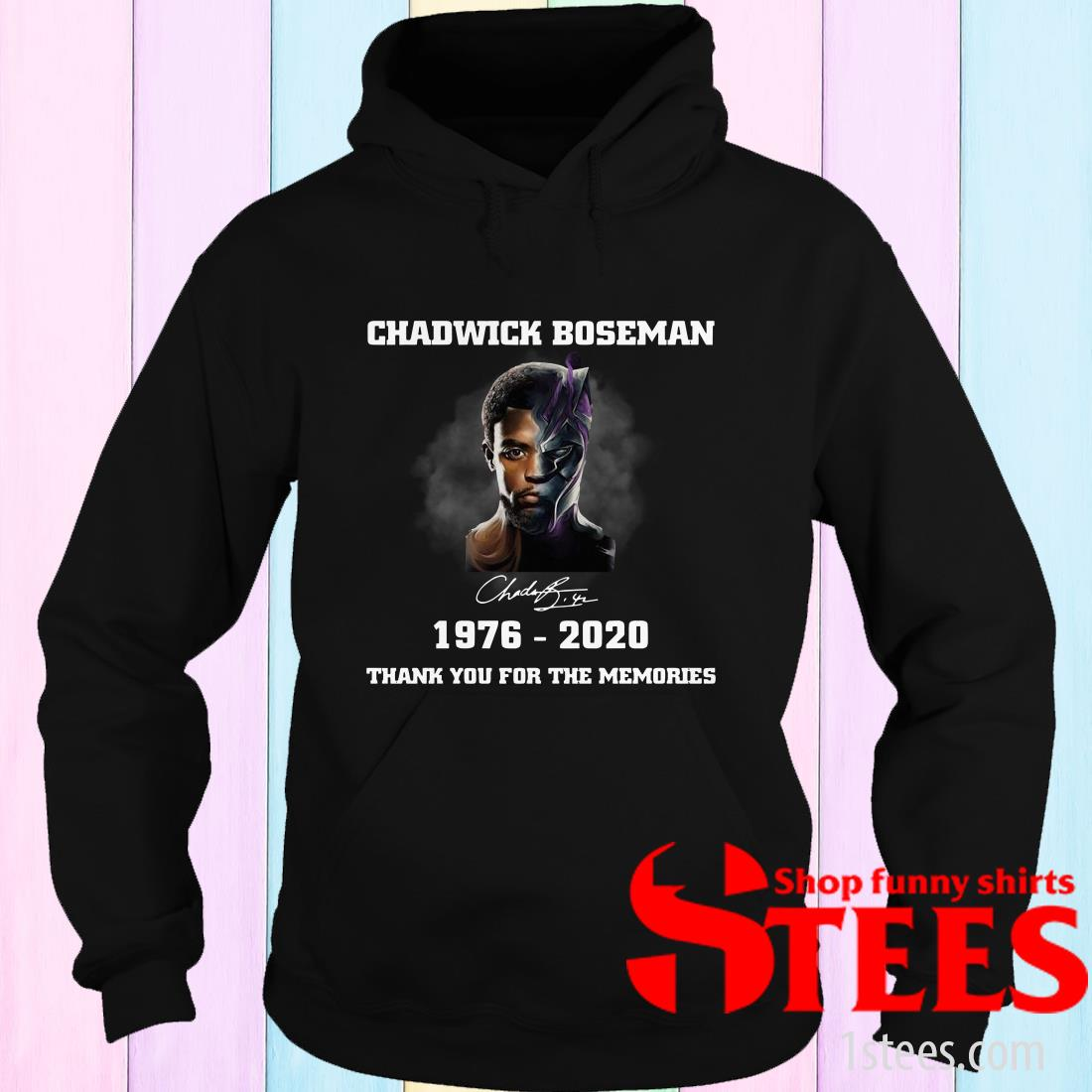 Chadwick Boseman Signature 1976-2020 Thank You For The Memories Hoodies