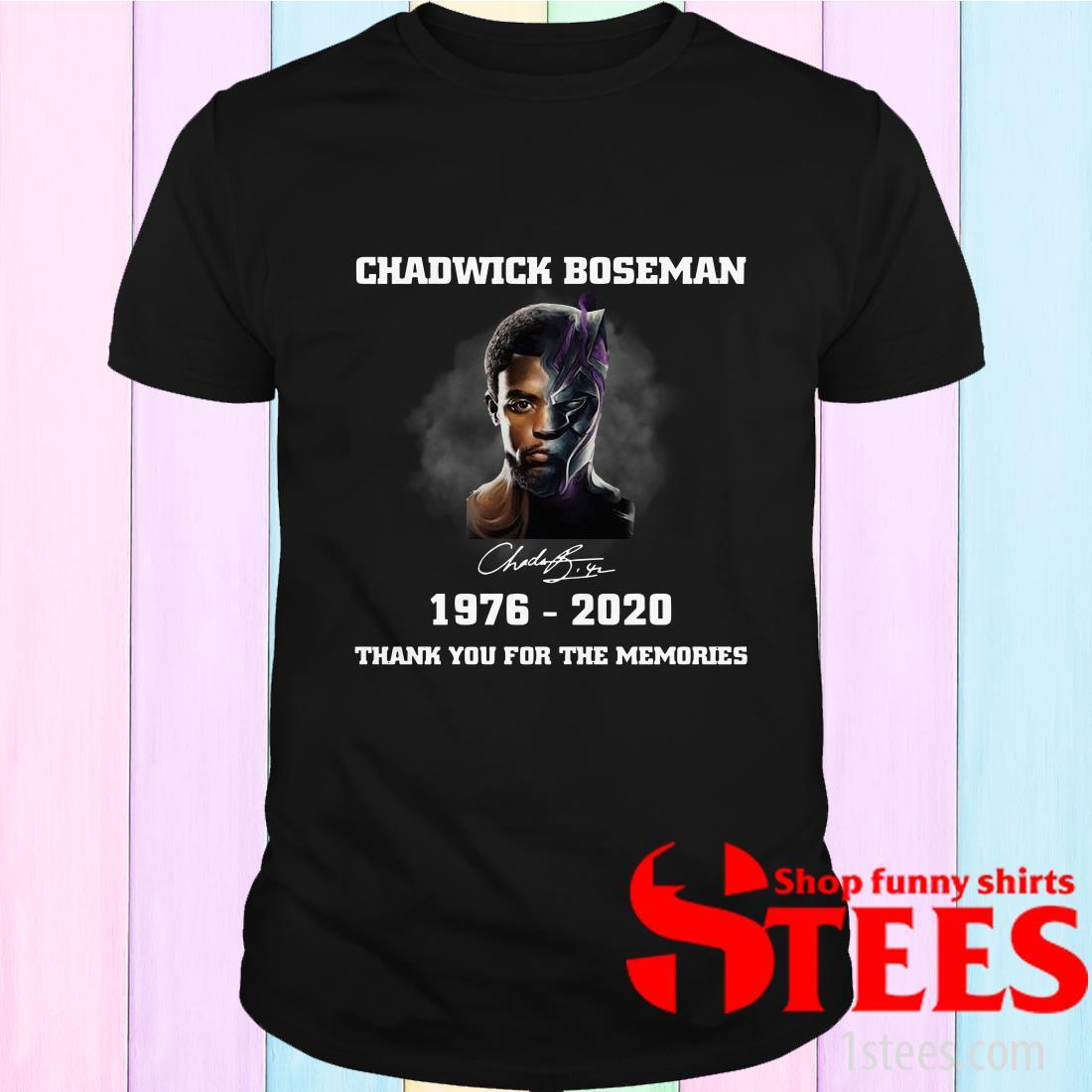 Chadwick Boseman Signature 1976-2020 Thank You For The Memories T-Shirt