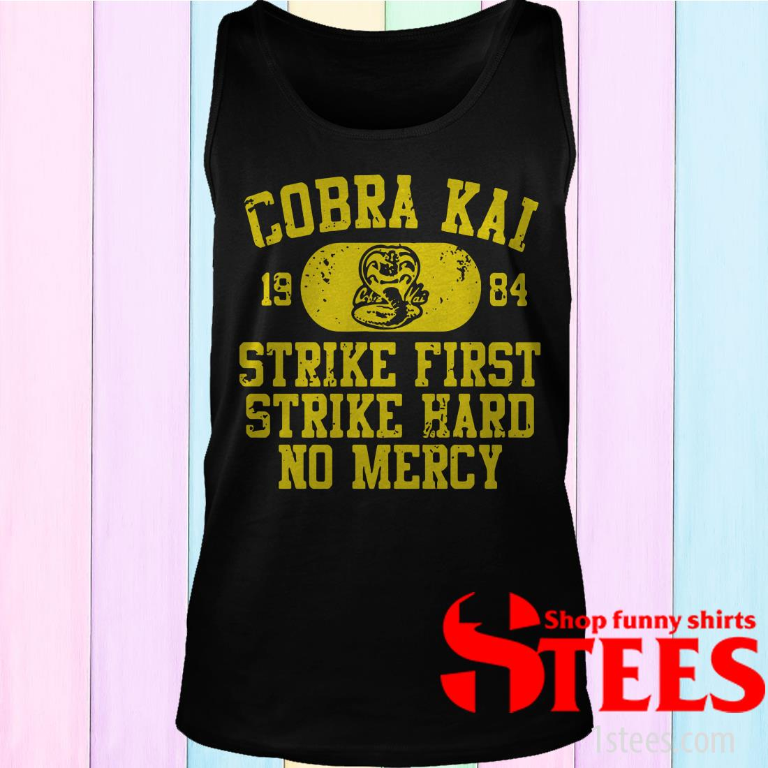 Cobra Kai 1984 Strike First Strike Hard No Mercy T-Shirt